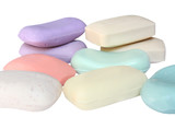 many different pieces of soap