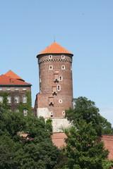 Sandomierska Tower of Wawel, Royal Castle in Krakow, Poland