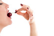 Eating a cherry