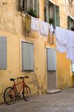 Street scene in old Croatian town of Zadar poster