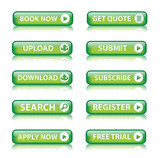 Web buttons (miscellaneous) (green) x10 poster