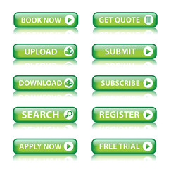 Web buttons (miscellaneous) (green) x10