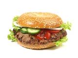 Hamburger im Bagel
