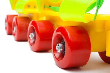 Colorful rollerskate isolated on white