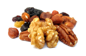 Walnut and snack food fruits