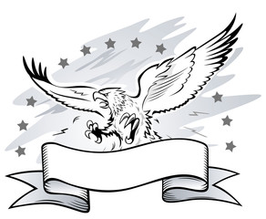 Spread Winged Eagle with Claws Emblem