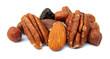 Snack food nuts and raisins