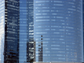 Immeubles de verres dans un quartier d'affaires