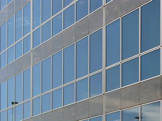 Perspective de verre et de béton