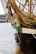 Historic Irish tall ship, Jeanie Johnston -detail - 15476833