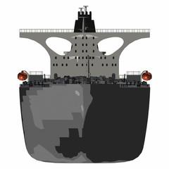 Öltanker - Frontansicht