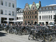 Leinwanddruck Bild - Fahrradstadt Kopenhagen