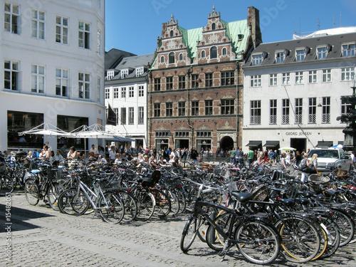 Leinwanddruck Bild Fahrradstadt Kopenhagen