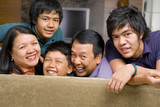 Asian family lifestyle portrait poster