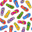 Seamless (repeatable) flip-flops pattern, white background