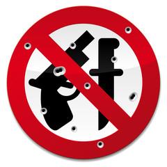 Weapon unauthorised sign