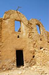 Berber house ruins in Tunisia