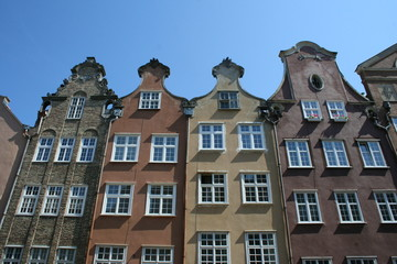 Facade of house in Gdansk Poland