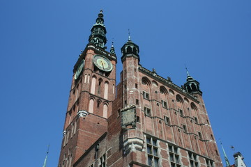 An old city hall in Gdansk Poland