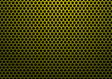 hexagon metal gold poster