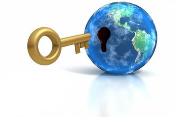 Key insert into world