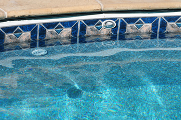 swimming pool water and edge