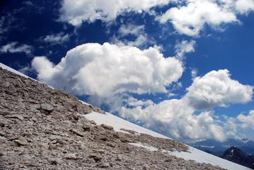 Nuvole sul monte Sella