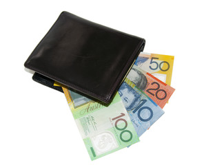 notes in a black male wallet