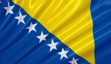 Flag of Bosnia and Herzegovina. Flag series. poster