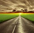 Fototapeta Ulica - Horyzont - Droga / Autostrada