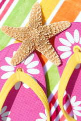 Starfish on flipflops