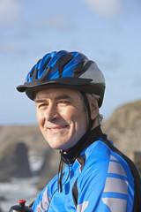 man in biking gear
