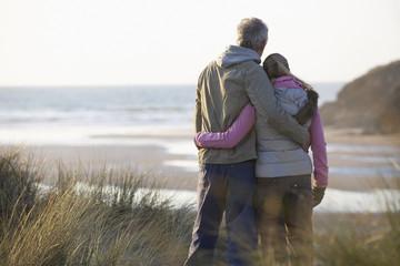 couple enjoying a beachfront view
