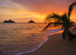 Pacific sunrise at Lanikai beach in Hawaii - 15507041
