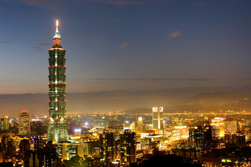 Night scene of Taipei 101