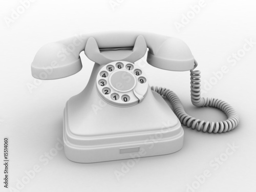 white old phone