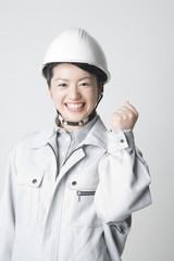 作業着を着た女性