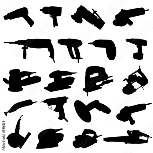 collection of power tool vector
