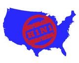 Swine flu stamp on America poster