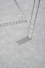 Two ladders outdoors