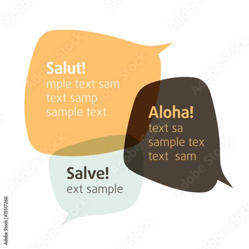 Let's talk. Vector bubbles. Insert your text. - 15517266