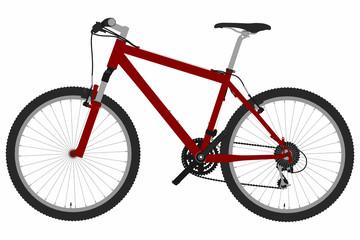 Mountainbike - Seitenansicht