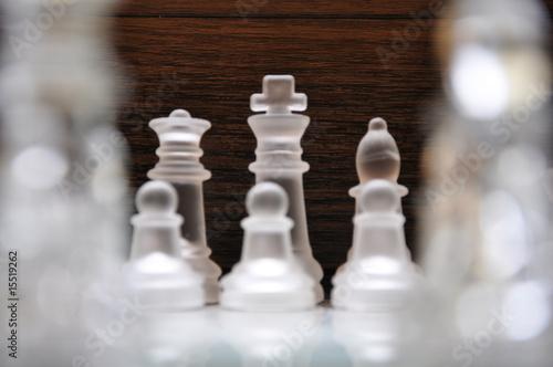 Schachfiguren Blick auf König