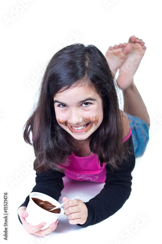 Young girl with chocolate