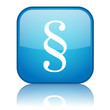 "Square button with ""impressum"" symbol (blue)"