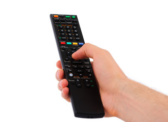 Arm with remote control, switching TV