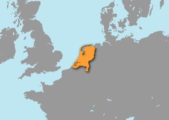 mappa Olanda 3d
