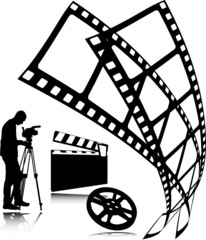 film vector silhouettes
