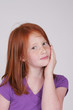 Redhead girl thinking