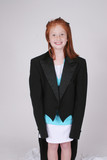 Redhead girl in tux tails poster